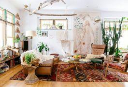 Amazing bohemian style living room decor ideas (30)