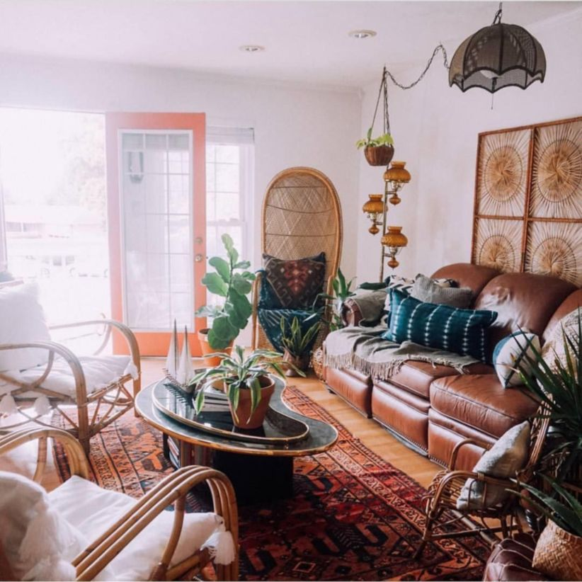 remarkable bohemian chic living room ideas | 48 Amazing Bohemian Style Living Room Decor Ideas - ROUNDECOR