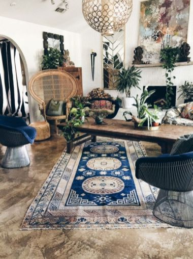 Awesome bohemian style home decor ideas (20)