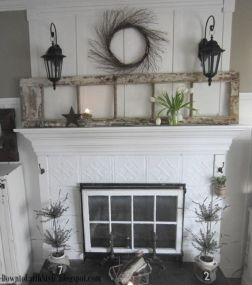 Beautiful spring mantel decorating ideas on a budget (10)