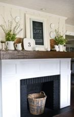 Beautiful spring mantel decorating ideas on a budget (15)