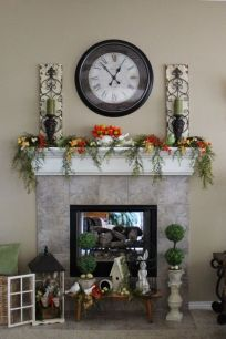 Beautiful spring mantel decorating ideas on a budget (2)
