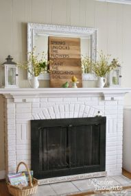 Beautiful spring mantel decorating ideas on a budget (29)