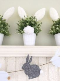 Beautiful spring mantel decorating ideas on a budget (36)