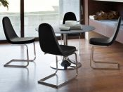 Comfy wood steel chair design for dining room (3)