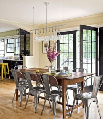 Comfy wood steel chair design for dining room (36)