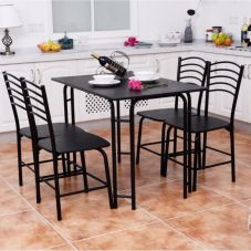 Comfy wood steel chair design for dining room (41)
