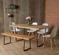 Comfy wood steel chair design for dining room (6)