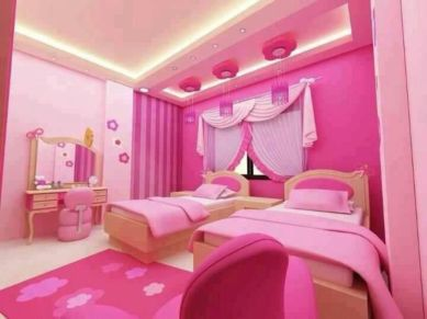 Cute pink kids bedroom designs ideas for small room (14)
