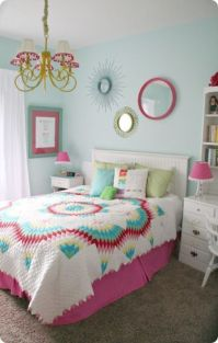 Cute pink kids bedroom designs ideas for small room (21)
