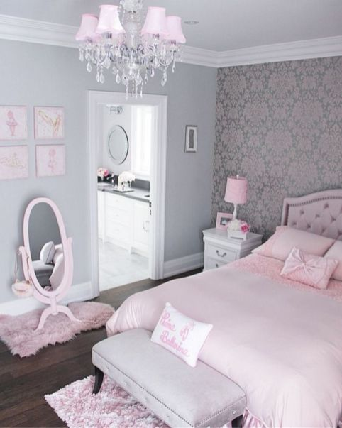 Cute pink kids bedroom designs ideas for small room (33)