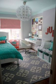 Cute pink kids bedroom designs ideas for small room (8)
