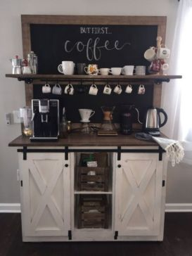 Fantastic home coffee bar design ideas you may try (36)