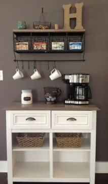Fantastic home coffee bar design ideas you may try (37)