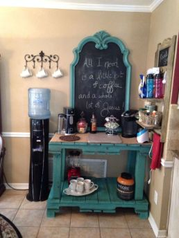 Fantastic home coffee bar design ideas you may try (7)