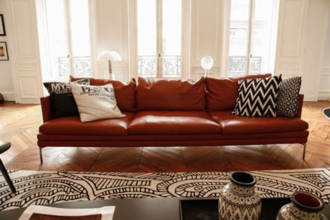 Fantastic red leather sofa designs ideas for family rooms (13)