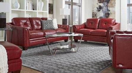 Fantastic red leather sofa designs ideas for family rooms (4)