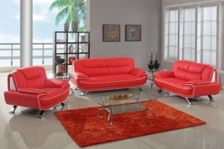 Fantastic red leather sofa designs ideas for family rooms (7)
