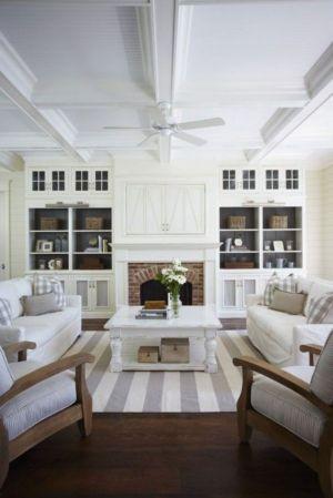 Gorgeous coastal living room decor ideas (17)