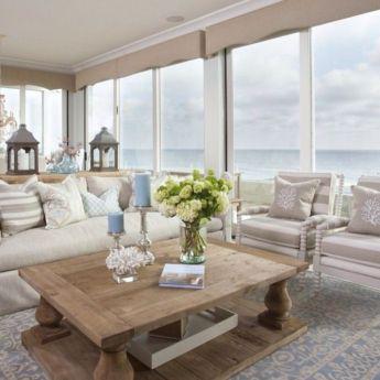 Gorgeous coastal living room decor ideas (4)