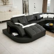 Stunning modern leather sofa design for living room (21)