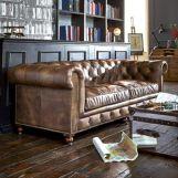 Stunning modern leather sofa design for living room (27)