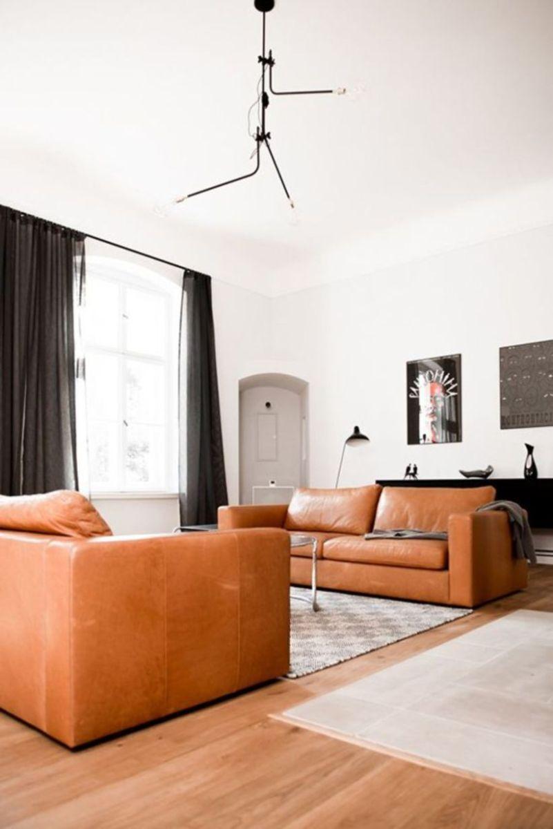 Stunning modern leather sofa design for living room (29)