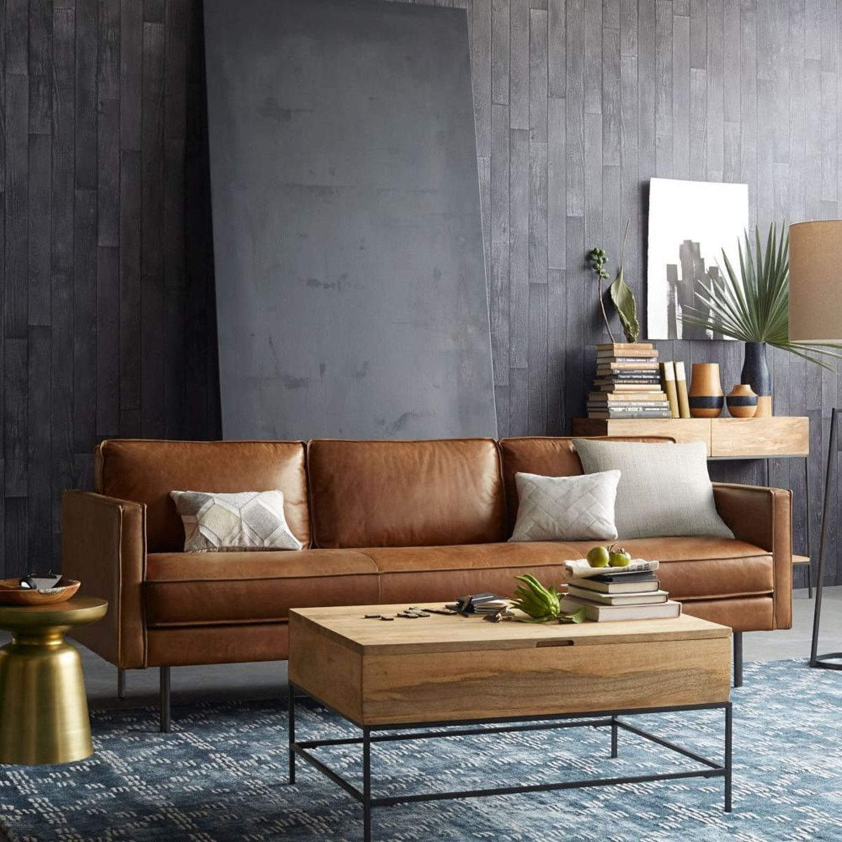Stunning modern leather sofa design for living room (34)