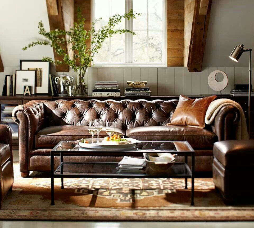 Stunning modern leather sofa design for living room (35)