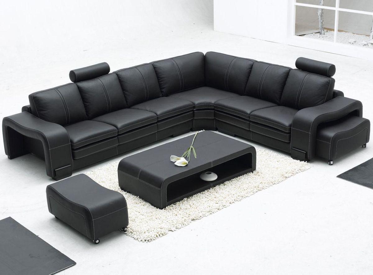 Stunning modern leather sofa design for living room (44)