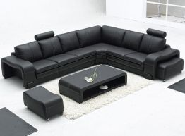 Stunning modern leather sofa design for living room (44)