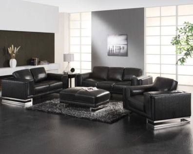Stunning modern leather sofa design for living room (9)
