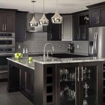 Stylish luxury black kitchen design ideas (12)
