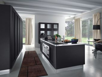 Stylish luxury black kitchen design ideas (15)