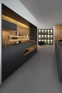 Stylish luxury black kitchen design ideas (23)