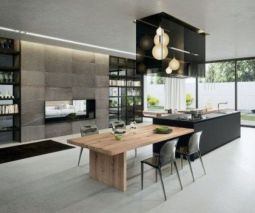 Stylish luxury black kitchen design ideas (31)