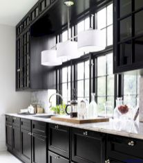 Stylish luxury black kitchen design ideas (40)