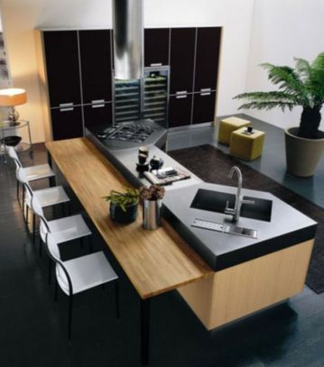 Stylish luxury black kitchen design ideas (48)