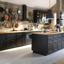 Stylish luxury black kitchen design ideas (9)