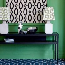 Totally inspiring black and white geometric wallpaper ideas for bedroom (12)