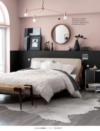 Totally inspiring black and white geometric wallpaper ideas for bedroom (16)