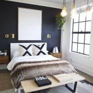 Totally inspiring black and white geometric wallpaper ideas for bedroom (17)