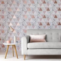 Totally inspiring black and white geometric wallpaper ideas for bedroom (29)