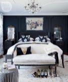Totally inspiring black and white geometric wallpaper ideas for bedroom (41)