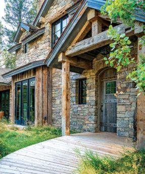 Amazing rustic mountain farmhouse decorating ideas (23)