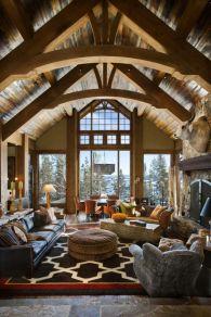 Amazing rustic mountain farmhouse decorating ideas (25)