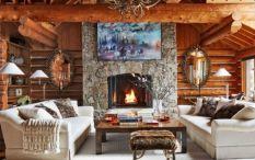 Amazing rustic mountain farmhouse decorating ideas (30)