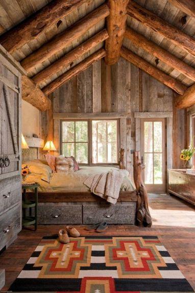 Amazing rustic mountain farmhouse decorating ideas (43)