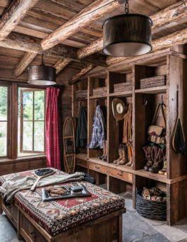 Amazing rustic mountain farmhouse decorating ideas (44)