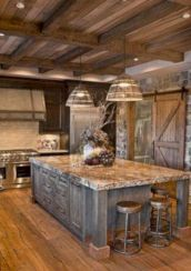 Beautiful rustic kitchen cabinet ideas (10)